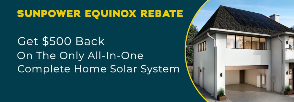 SunPower Equinox Rebate
